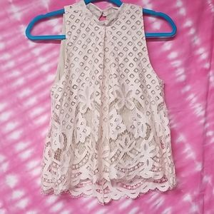 Love Fire sleeveless lace blouse